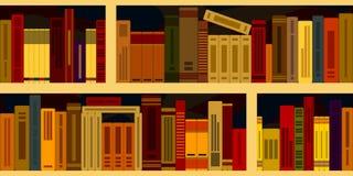Naadloze achtergrond van boekenrekken stock illustratie