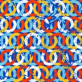 Naadloze achtergrond van cirkels Vector illustratie grunge stock illustratie