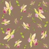Naadloze achtergrond van een bloemenornament, een modieuze moderne behang of een textiel royalty-vrije illustratie