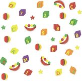 Naadloze achtergrond van het speelgoed van kinderen Stock Illustratie