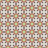 Naadloze achtergrond van het uitstekende patroon van de de meetkundevorm van de bloemcaleidoscoop Royalty-vrije Stock Foto's