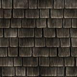 Naadloze achtergrond van houten dak Stock Afbeeldingen