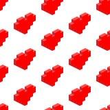 Naadloze achtergrond van isometrische harten Stock Foto's