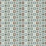 Naadloze achtergrond van kaartkostuums, harten, spades, diamanten Stock Afbeelding