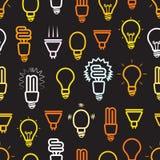 Naadloze achtergrond van kleuren de lichte lampen royalty-vrije illustratie
