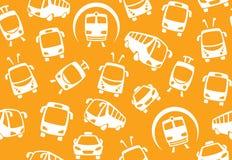 Naadloze achtergrond van openbaar vervoer vector illustratie