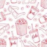 Naadloze achtergrond van popcorn Royalty-vrije Stock Foto's