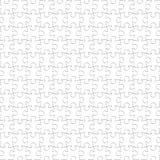 Naadloze Achtergrond van raadsel de Witte Stukken, Leeg Figuurzaagpatroon vector illustratie