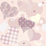 Naadloze achtergrond van roze harten stock illustratie