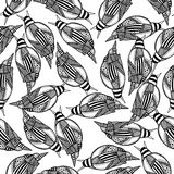 Naadloze achtergrond van zwart-wit slakken Royalty-vrije Stock Foto's