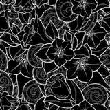 Naadloze achtergrond in vector met krabbels, bloemen en Paisley Stock Afbeelding