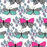 Naadloze achtergrond, vlinderpatroon royalty-vrije illustratie