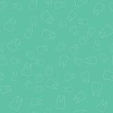 Naadloze Achtergrond Voor het tandbureau Het overzicht van witte tanden Vector Royalty-vrije Stock Afbeelding
