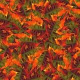 Naadloze achtergronddiepatroontextuur van esdoornbladeren wordt gemaakt Stock Fotografie