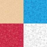 Naadloze achtergronden met wervelingstextuur - vectorreeks patronen stock illustratie