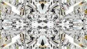 Naadloze animatie van abstract kleurrijk geometrisch kristalglas of de motie grafisch van de achtergrond spiegelvorm textuurpatro vector illustratie