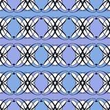 Naadloze antieke geometrische het art deco modieuze bac van het patroonornament Stock Afbeeldingen