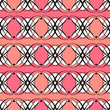 Naadloze antieke geometrische het art deco modieuze bac van het patroonornament Royalty-vrije Stock Afbeeldingen