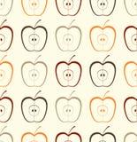 Naadloze appeltextuur Royalty-vrije Stock Afbeeldingen