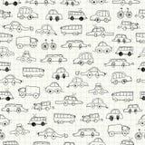 Naadloze auto'skrabbels Stock Afbeeldingen