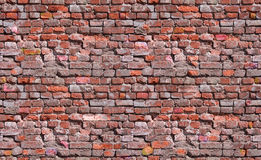Naadloze bakstenen muurtextuur Stock Foto's