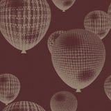 Naadloze ballonachtergrond vector illustratie
