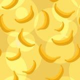 Naadloze bananenachtergrond Stock Afbeelding