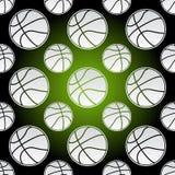 Naadloze basketbalballen Stock Afbeelding