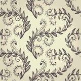 Naadloze beige bloemenachtergrond vector illustratie
