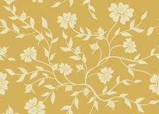 Naadloze beige bloementextuur royalty-vrije illustratie