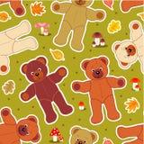 Naadloze beren in de herfst Stock Afbeeldingen