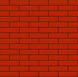 Naadloze Betegelde Rode Bakstenen muur Vector stock illustratie