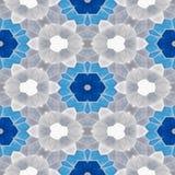 Naadloze blauw, grijze de textuurachtergrond van de mozaïekcaleidoscoop - en gekleurd wit Royalty-vrije Stock Foto