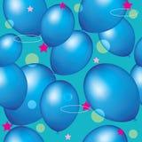 Naadloze blauwe ballons als achtergrond Stock Afbeelding