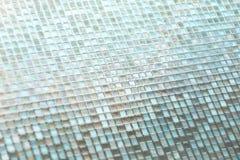 Naadloze blauwe de textuurachtergrond van glastegels Stock Fotografie
