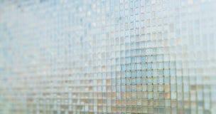 Naadloze blauwe de textuurachtergrond van glastegels Stock Foto's