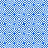 Naadloze blauwe Griekse patroon geometrische vierkanten vector illustratie