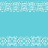 Naadloze blauwe rustieke achtergrond met het ornament van het kantpatroon Royalty-vrije Stock Fotografie