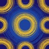Naadloze blauwe uit de vrije hand achtergrond Royalty-vrije Stock Afbeelding