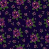 Naadloze bloem, de achtergrond van het gebladertepatroon Stock Afbeelding