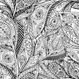 Naadloze bloem retro achtergrond in vector Royalty-vrije Stock Afbeelding