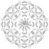 Naadloze bloemachtergrond. Zwart-wit. Stock Afbeeldingen
