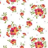 Naadloze bloemen Stock Foto
