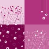 Naadloze bloemen Als achtergrond. Stock Afbeeldingen
