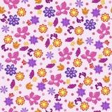 Naadloze bloemen als achtergrond Stock Fotografie