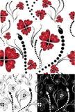 Naadloze bloemen geplaatste achtergronden Royalty-vrije Stock Foto