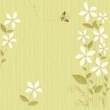 Naadloze Bloemen Groene Kaart Royalty-vrije Stock Foto