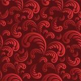Naadloze bloemen rode achtergrond Stock Foto