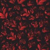 Naadloze bloemen rode achtergrond Stock Afbeeldingen