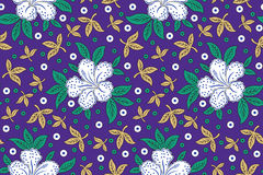 Naadloze bloemenachtergrond voor stoffen en doeken Stock Fotografie